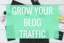 Grow Blog Traffic / Are you looking to increase your blog traffic, but don't know where to start??  I'm here to help you grow your traffic, build a following on social media, create great content, improve your design, and feel confident promoting your stuff on social media. Let's do this! Discover Awesome Tips & Guides to start driving traffic to your blog