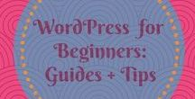 WordPress for Beginners: Guides and Tips / All the guides and tips you need to help you succeed in the WorldPress World.  Find out more at https://www.nimbusthemes.com/magazine/
