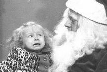 C05: CHRISTMAS FEAR! ( unusual Santas ) / DARK SOMETIMES SCARY RETRO, VINTAGE AND ANTIQUE SANTA CLAUS / by Gary a Collector