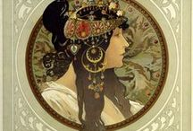 I: MUCHA STYLE , ART NOUVEAU, DECO / MUCHA STYLE, DECO, NOUVEAU / by Gary a Collector