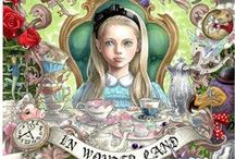 P: ALICE THROUGH THE LOOKING GLASS / All Alice and her friends in Wonderland.  / by Gary a Collector