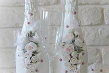 Decoupage bottles