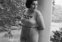 Plus Size Vintage Babes {STYLE INSPO} / Super rare and hard to find images of actual fat women in history - stylishly dressed!