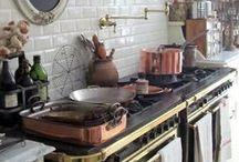 cottagekitchen cookware / dishes, pots and pans, utensils, teapots / by dana pallessen