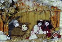Kerstmis  / Diverse kerstboeken zoals het Kerstverhaal met de prachtige illustraties van Hanneke de Jager, het grote Sint- en Kerstboek mét cd en het kerstboek voor peuters en kleuters.