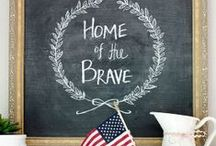 July Fourth / Fourth of July decor, crafts, and entertaining ideas.