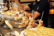 "Pintxos / Baque country traditional food, Pintxos, similar to ""tapas""."