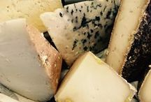 Our Monthly Cheese Selections / At the beginning of each month we introduce a new selection of five cheeses, with tasting notes with a total weight of around 1kg. Sold in our shop or by mail order