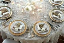Laces & Overlays for Special Events / Weddings and events showcasing our tablecloths, also featuring other design inspiration