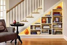 Under the Stairs / Fun ideas and inspiration for under-utilized, hard to access, under the stairs storage space.  See more ideas on our facebook page at www.facebook.com/gardnerteam / by Amber Rose Gardner