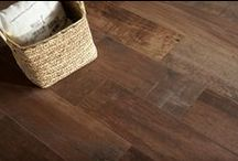 Hardwood Inspired Porcelain Floors / Porcelain Tile that looks like hardwood flooring, but is more durable!
