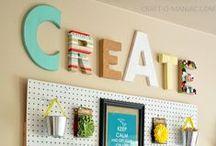 craft space / by Amber Rose Gardner