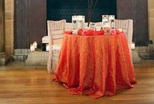 Pin-tuck / Weddings and events showcasing our pin-tuck tablecloths, also featuring other design inspiration