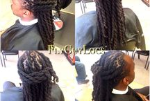 My Loc Styles for Men Before and After / This area is composed of the work start to finish that if done all styles were done by me  / by Fly Guy Locs