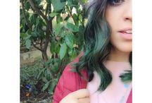 My green hair / Green hair