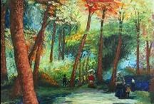 Landscapes Paintings / Landscapes paintings made in different styles and with different techniques.