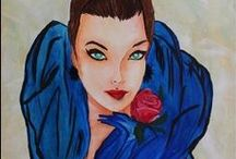 Figurative Paintings / Figurative paintings made in different styles and with different techniques.