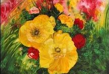 Flowers Paintings / Flowers paintings made in different styles and with different techniques.