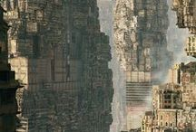 Fantasy/Sci-Fi Urbanscape / landscapes of cities/buildings in a fantastical setting, be it medieval, futuristic, alternate reality, etc.