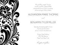Black & White Wedding Inspiration / Going for an all black & white wedding? Get inspired with printable invites, decorations, DIY ideas & more!
