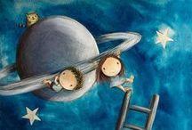 Ilustraciones de lectura / Imágenes para la biblioteca, relacionadas con la lectura, pósters... http://bibliotecaildefonsonavarro.blogspot.com.es/