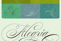 Каллиграфия, шрифты