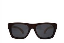 Zonnebril van hout / Houten bril