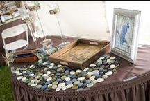 Placecard table/Sign-in book Ideas