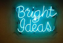 Bright ideas / There is no limit on my boards. So pin away! ❤️ / by Kay