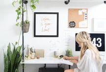 Home-Office / Wir sammeln schöne Ideen für das Home-Office, um die Arbeit dort zu versüßen - zum Verkürzen der Arbeitszeit gibt es ja unsere Materialien. ;)