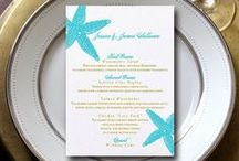 Wedding Menus / Let your guests know what fabulous eats you've picked for them! Great wedding menu designs.