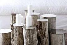 NATURALNE ELEMENTY #piekniemieszkaj / Tablica zawiera zbiór inspiracji pokazujący wykorzystanie drewna, marmuru i innych naturalnych elementów we wnętrzach.