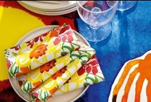 Spring/Summer Parties / Celebrate with color! Whether you prefer soft watercolors or bold, graphic prints, we have great interior decor items for your spring or summer soiree.