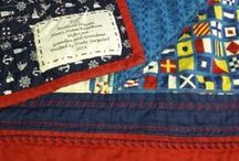 Nautical Patchwork / Patchwork inspired by nautical themes and prints