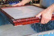 Papier schöpfen / Papermaking / by Ulrike Hagel