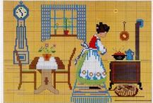 kanaviçe-mutfak / cross stitch- kitchen