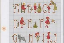 kanaviçe - harfler / cross stitch - letter