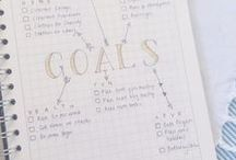 """""""Goal""""den Rules / Tips and visuals on goal setting and bullet journals"""