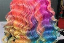 Colourful Hair / colorful hair, coloured hair, rainbow hair, hair color hair color ideas, hair color inspiration, hair color trends, unicorn hair