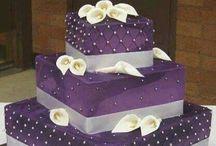 Wedding silver purple