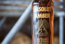 Rested In Oak Barrels / Absolut takes on a deeper character with Absolut Amber by carefully selecting blend of Swedish, American and Bourbon oak spirits combined with oak macerated spirits. Absolut Amber is a rich and smooth vodka with a warm amber color and slightly smoky taste.  / by Absolut
