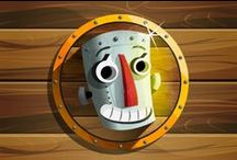Whack a Robot: Smash it / Arte Conceptual juego Android GDD-Whack a Robot: Smash it: Art free android Videogame
