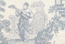 toile de chinoiserie / Stoffen en behang in de chinoiserie stijl