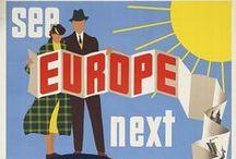 Wanderlust: Europa /   Vintage-Reklame für Reiseziele in Europa   vintage travel posters, destinations in Europe   / by Kiez Königin
