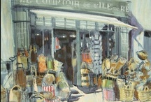 Shop / Drawings & paintings of shop facades and interiors  / by Felicity House