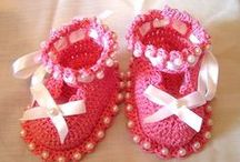 BABY/ TODDLER -  BOOTIES, SANDALS, SHOES & SLIPPERS - knit,crochet & sew / by Charmaine Kramer