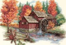 Cross stitch - Landscape