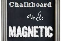 lulu loves chalkboard wall.  / A simple way to personalize your space, {chalkboard style}. Monthly inspirations and ideas for your own chalkboard wall.   / by Lulu & Linen