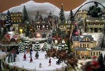 Department 56 Villages / I collect Department 56  buildings and accessories and LOVE to build village displays! I am working on building a huge, year-round display. / by Deborah Gafford Author