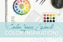 Color Your World / Awash with color!  Here you'll find a range of color palettes for your muse.